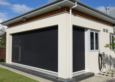 Phantom Screens installed retractable outdoor blinds in this new home build in Tasmania