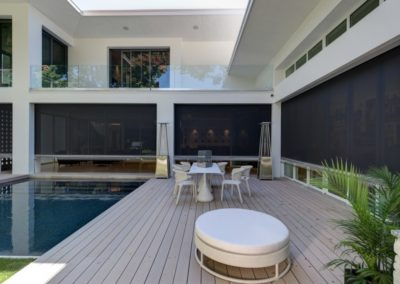 Outdoor Blinds, When Closed, Provide Security & Privacy