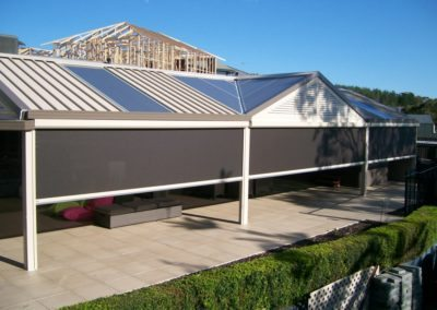 Motorised Outdoor Blinds Provide Shade From The Harsh Sun